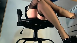 Tease, Webcam, Nylons, Stocking tease, Nylon, Nylon tease