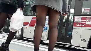 Upskirt, Candid, Asian stockings, Stockings, Pantyhose, Stocking