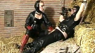 Mistress, Rubber, Slave, German mistress, German, Riding