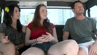 Car, Bus, Bang bus, Small tits
