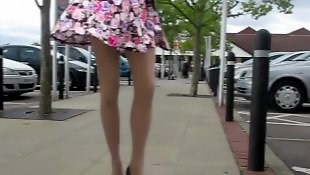 Skirt, Upskirt, Babes, Amateur milf, Flash, Flashing