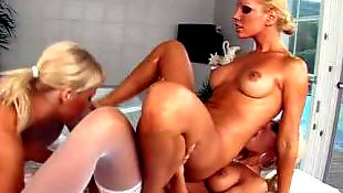 Clara g, Fisting, Lesbian hd, Lesbian fisting, Lesbians stockings, White stockings
