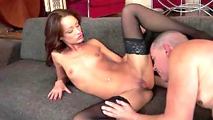 Flat chested, Stockings fuck, Older, Flat chest, Sophie lynx, Spreading