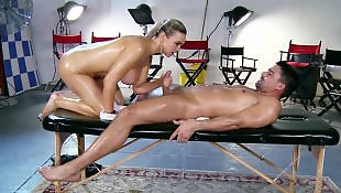 Oil, Abbey brooks, Oiled, Rubbing, Brooke