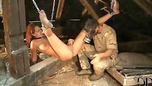 Boy, Bondage, Torture, Pussy gape, Barefoot, Pussy torture