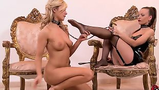 Lesbian heels, Slave, Lesbian domination, Leggings, Legs, Lesbian slave