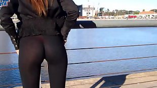 Wow, Flashing, Wow girls, Pants, See through, Public flashing