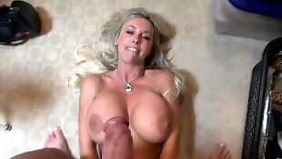 Swallows, Busty, Wifey, Cum swallow, Swallow, Milf