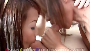 Asian threesome, Asian, Thai, Two girls, Thai girl, Asian cumshot