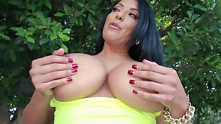 Milf huge boobs red nails