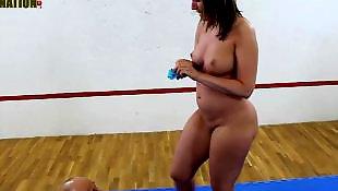 Mixed wrestling, Mistress, Wrestling, Face sitting, Big butt, Mistress t