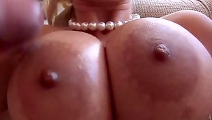Titjob, Titjob cum, Cream, Cum on tits, Asian facial, Asian big tits
