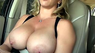 Milf, Flashing, Amateur milf, Big boobs, Flash
