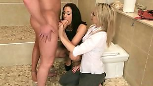 Jerk off, Group handjob, Lucky guy, Guy, Cfnm handjob