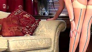 长腿丝袜美女, 艳舞, 漂亮美女丝袜, 情趣内衣 丝袜, 中舞, 丝袜艳舞