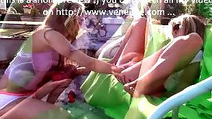 Flashing, Lesbian fisting, Fisting, Nudist, Public lesbian, Double dildo