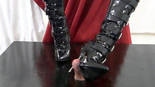 Boots, Foot fetish, Foot job, Mommy, Boot