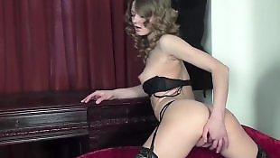 Wet pussy, Stockings anal, Ass masturbation, Pussy show