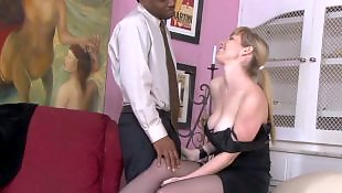 Step, Spreading, Interracial stockings