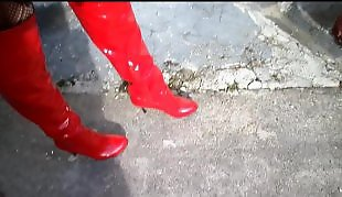 Boots, Foot fetish, Red, Boot