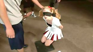 Gangbang, Bondage, Blindfolded, Cheerleader, Teen bondage, Blindfold
