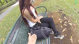 Public, Nudist, Glasses, Love, Public blowjob, Tattoo