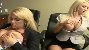 Busty masturbation, Secretary, Ass lick, Secretary anal