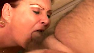 Mature blowjob, Granny, Grandpa, Small dick, Granny blowjob, Busty