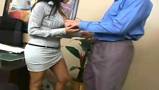 Mature blowjob, Cameltoe, Mature, Mature anal, White lingerie, Office