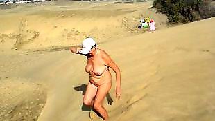 Walking, Flashing, Nude, Mature, Mature amateur, Nude in public