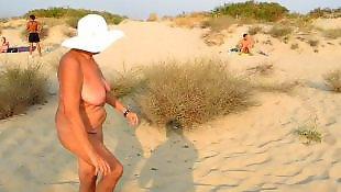 Nudist, Old granny, Granny, Old, Public