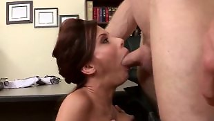 Office, Nipple suck, High heels, Pierced nipples, Stockings heels, Nipples
