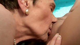 Granny lesbian, Mature lesbian, Lesbian pool, Granny, Mature