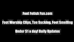 Stockings footjob, Stocking footjob