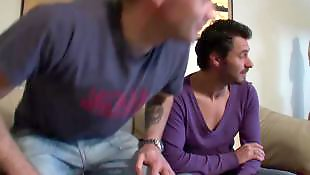 French, Amateur threesome, Threesome blowjob