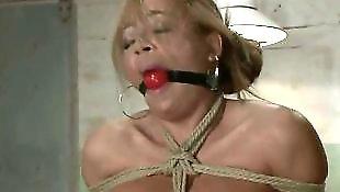 Bondage, Asian bondage, Busty asian, Ball gag