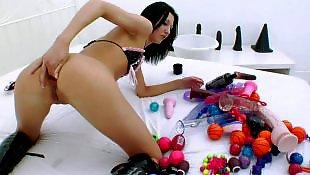 В лифчике, Анал ноги игрушки
