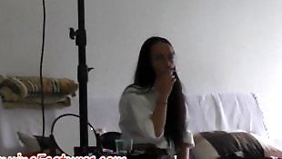 Long hair, Czech, Backstage, Long, Hot