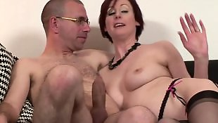 Mature fuck, Stockings fuck, Mature, Lucky guy, Guy, Lucky