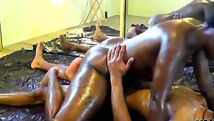 Oil, Oiled, Black ass, Oiled ass, Oil ass
