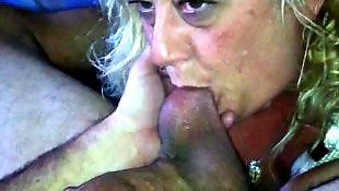 Close up blowjob, Balls