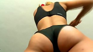 Sasha blond, Sasha blonde, Striptease, Small tits solo, Gym