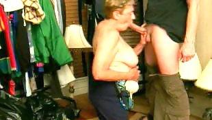 Mature blowjob, Granny, Grandma, Granny blowjob, Granny facial, Mature