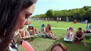 Teen handjob, Dorm, Latina lesbian