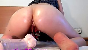 Big pussy, Double dildo, German, Anal, Double, Extreme