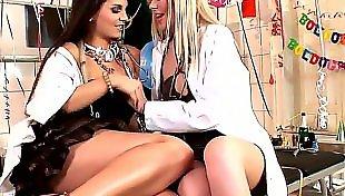 Lesbians kissing, Lesbian nurse