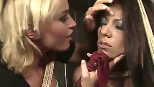 Lesbian orgy, Whipping