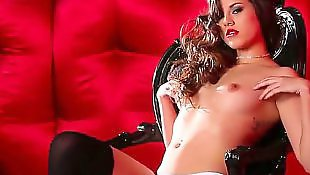 Stockings masturbating, Glamour solo, Stockings solo, Boobs solo