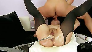 Dripping, Mature, Fuck machine, Fucking machine, Milf stockings, Machine