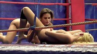 Big tits, Lesbian fight, Sport